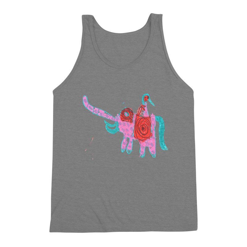 Elephant Rider Men's Triblend Tank by The Life of Curiosity Store