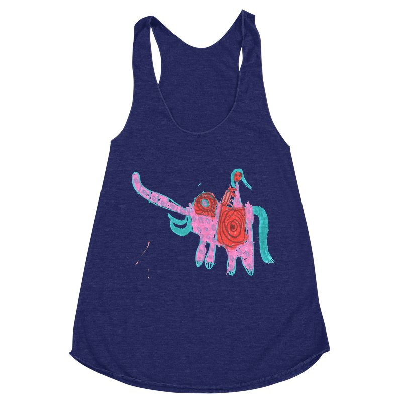 Elephant Rider Women's Racerback Triblend Tank by The Life of Curiosity Store