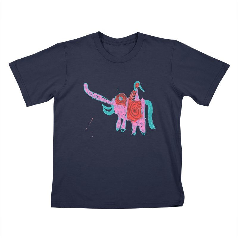 Elephant Rider Kids T-Shirt by The Life of Curiosity Store