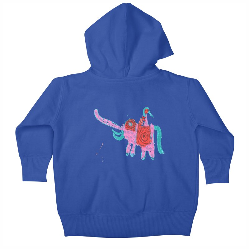 Elephant Rider Kids Baby Zip-Up Hoody by The Life of Curiosity Store