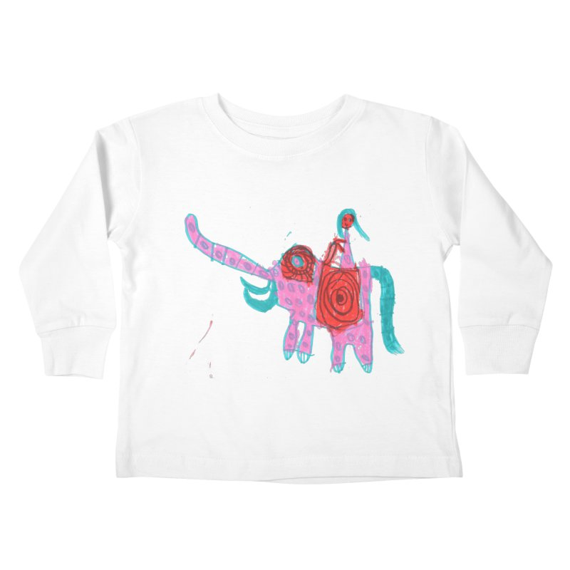 Elephant Rider Kids Toddler Longsleeve T-Shirt by The Life of Curiosity Store