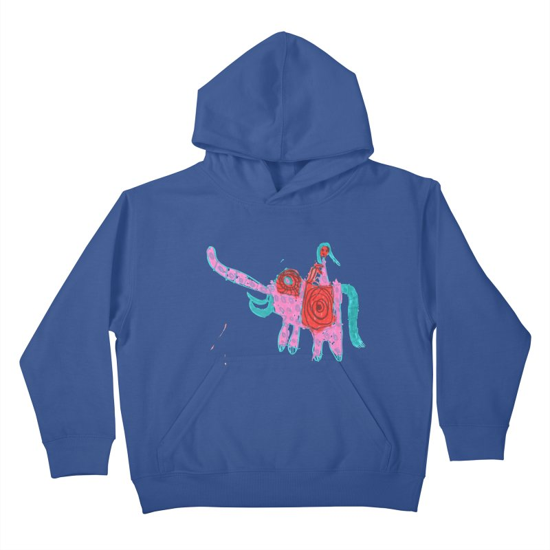 Elephant Rider Kids Pullover Hoody by The Life of Curiosity Store