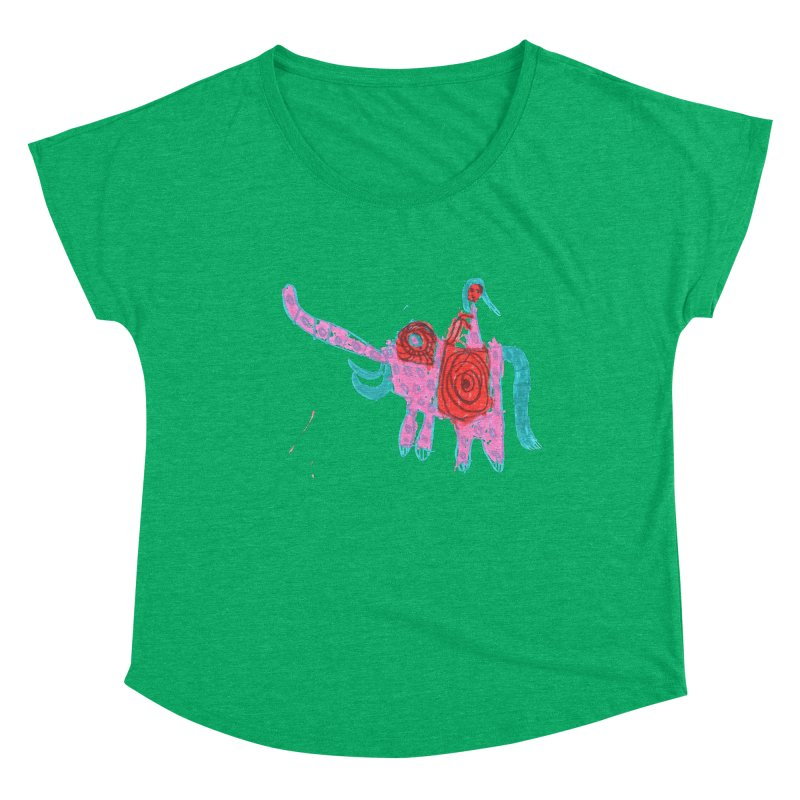 Elephant Rider Women's Dolman Scoop Neck by The Life of Curiosity Store