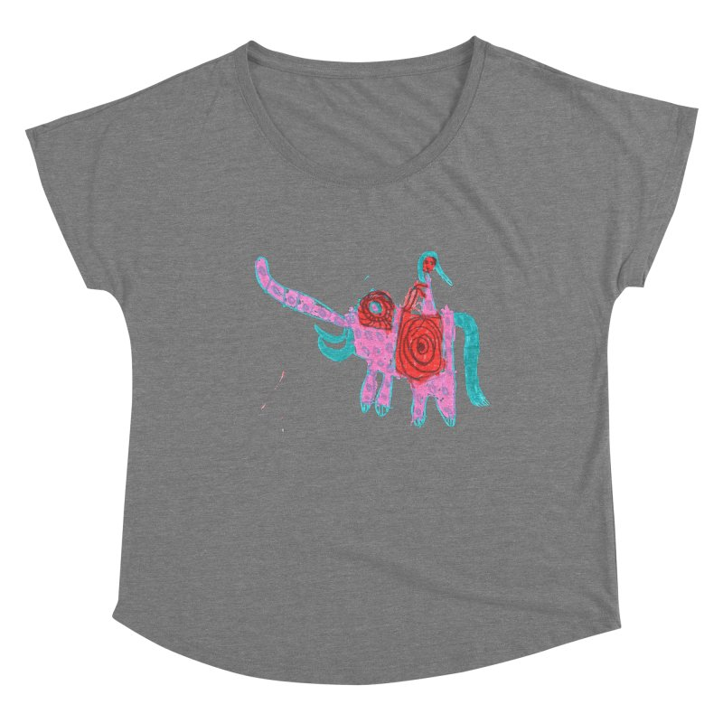 Elephant Rider Women's Scoop Neck by The Life of Curiosity Store