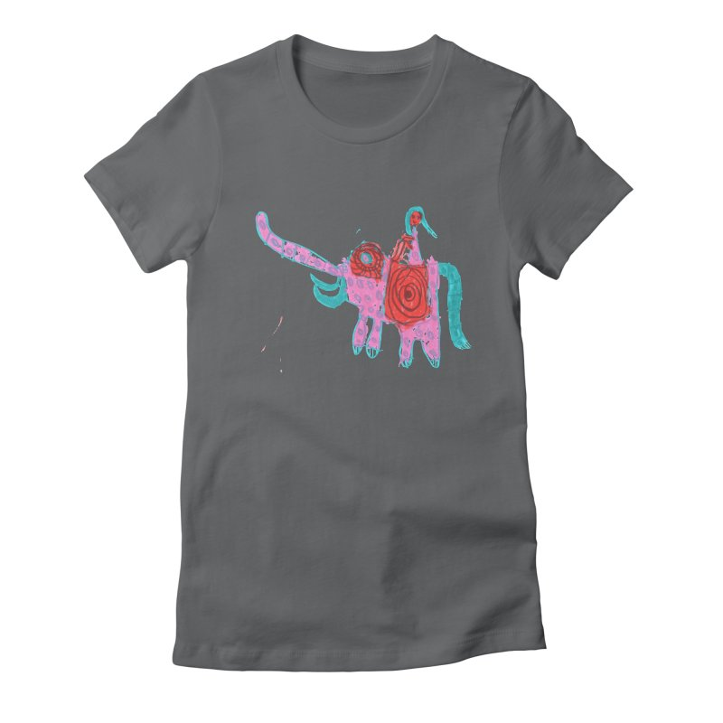 Elephant Rider Women's Fitted T-Shirt by The Life of Curiosity Store