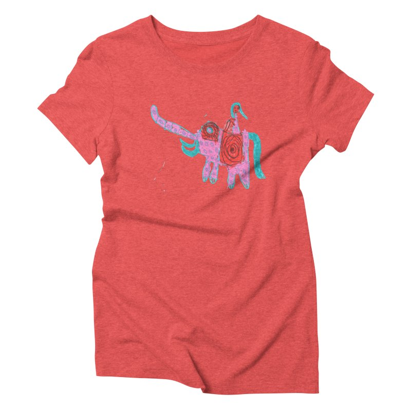 Elephant Rider Women's Triblend T-Shirt by The Life of Curiosity Store