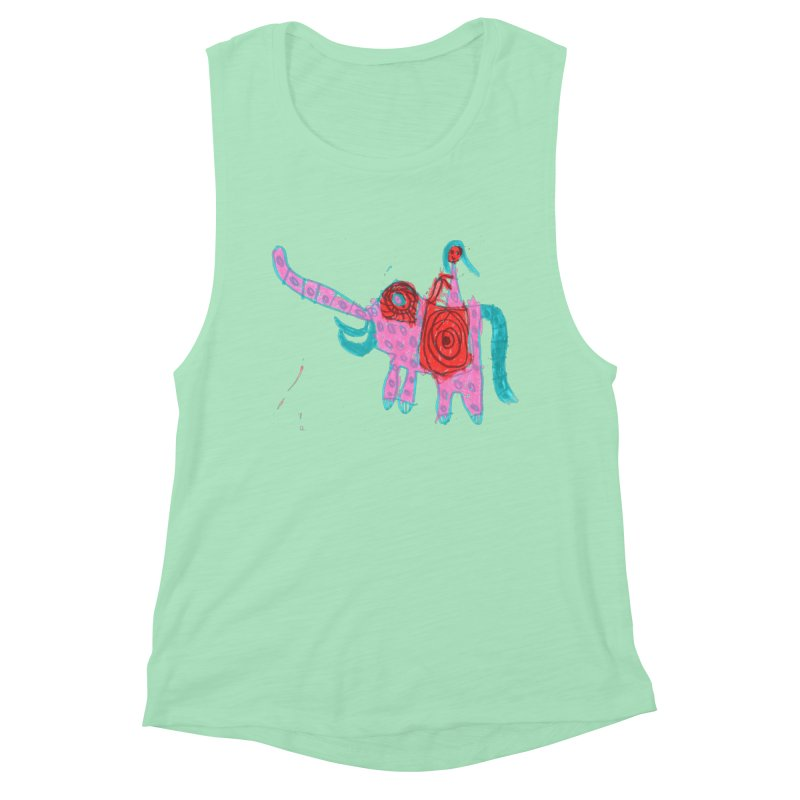 Elephant Rider Women's Muscle Tank by The Life of Curiosity Store