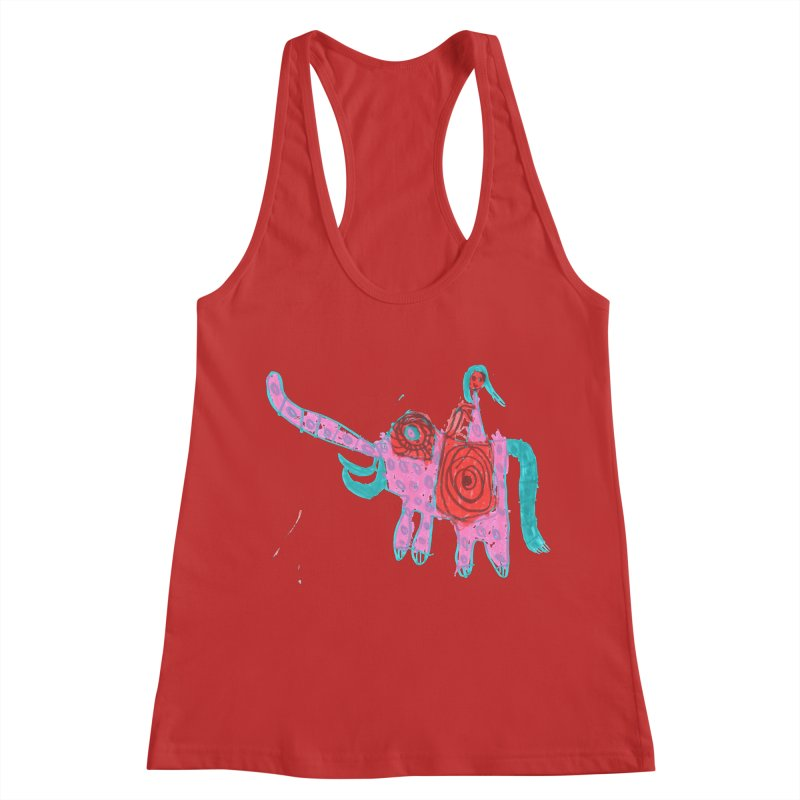 Elephant Rider Women's Racerback Tank by The Life of Curiosity Store