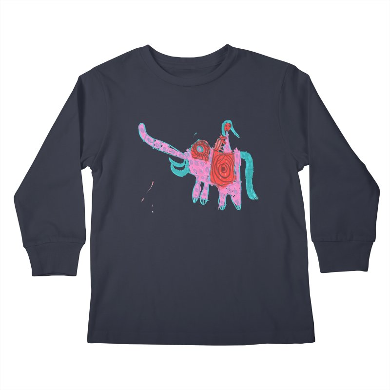 Elephant Rider Kids Longsleeve T-Shirt by The Life of Curiosity Store