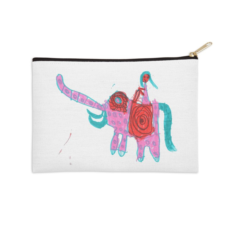 Elephant Rider Accessories Zip Pouch by The Life of Curiosity Store