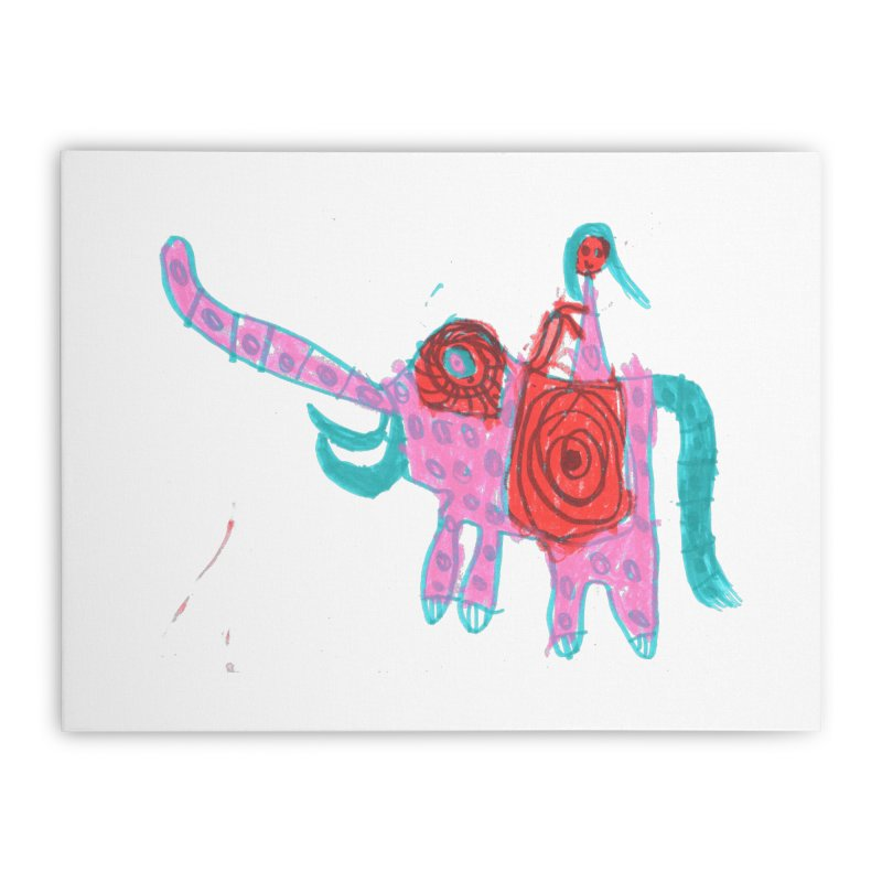Elephant Rider Home Stretched Canvas by The Life of Curiosity Store