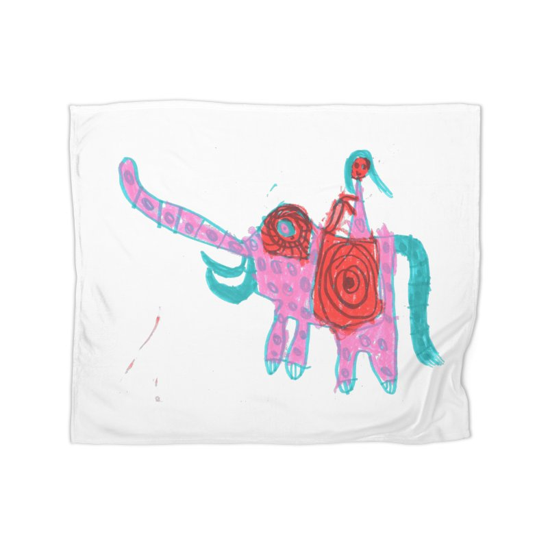 Elephant Rider Home Fleece Blanket Blanket by The Life of Curiosity Store