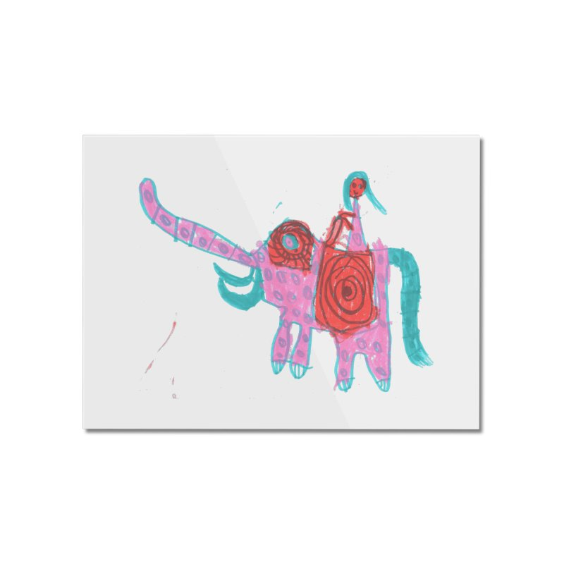 Elephant Rider Home Mounted Acrylic Print by The Life of Curiosity Store