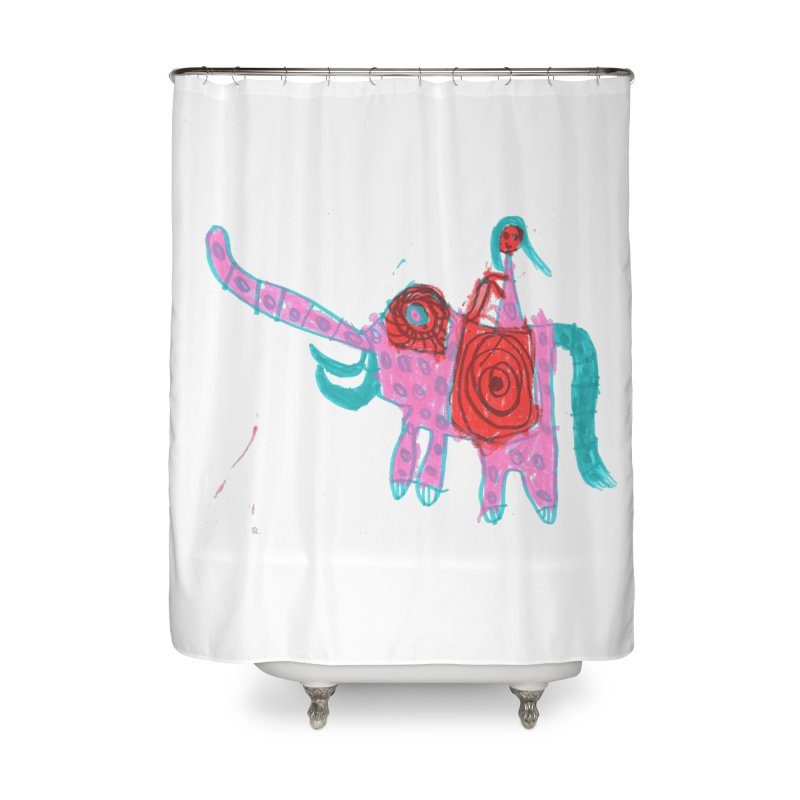 Elephant Rider Home Shower Curtain by The Life of Curiosity Store