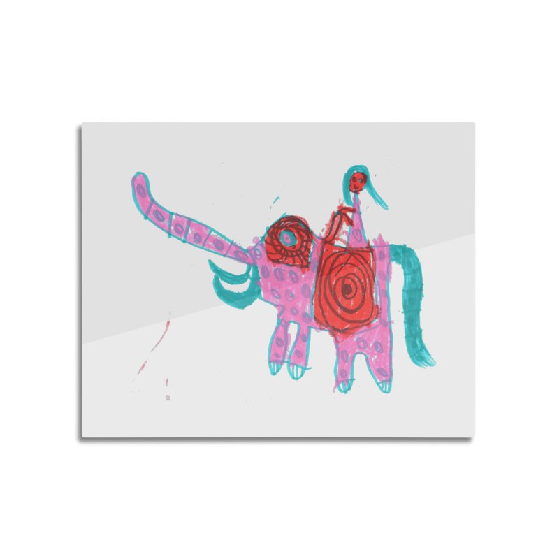 Elephant Rider Home Mounted Aluminum Print by The Life of Curiosity Store