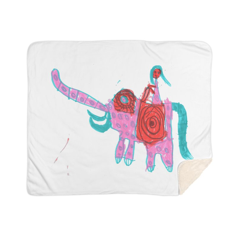 Elephant Rider Home Sherpa Blanket Blanket by The Life of Curiosity Store