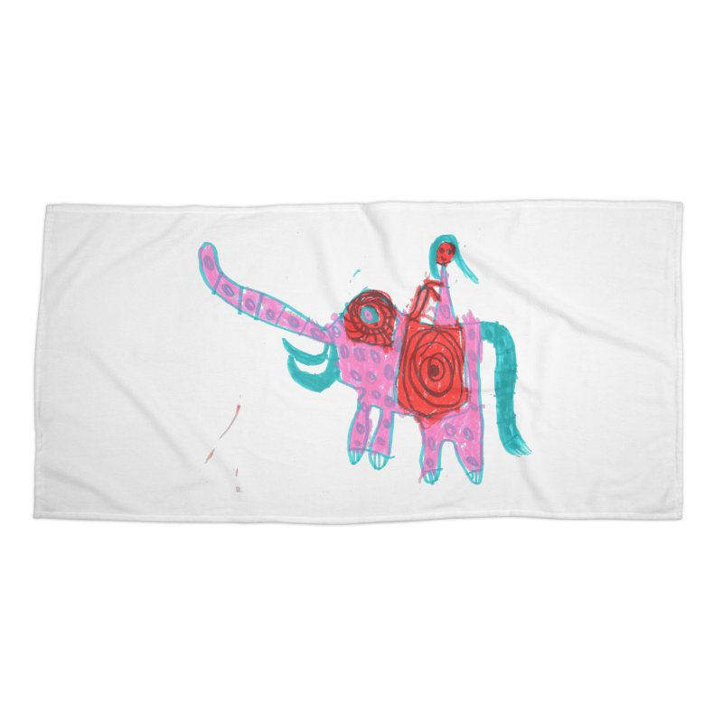 Elephant Rider Accessories Beach Towel by The Life of Curiosity Store