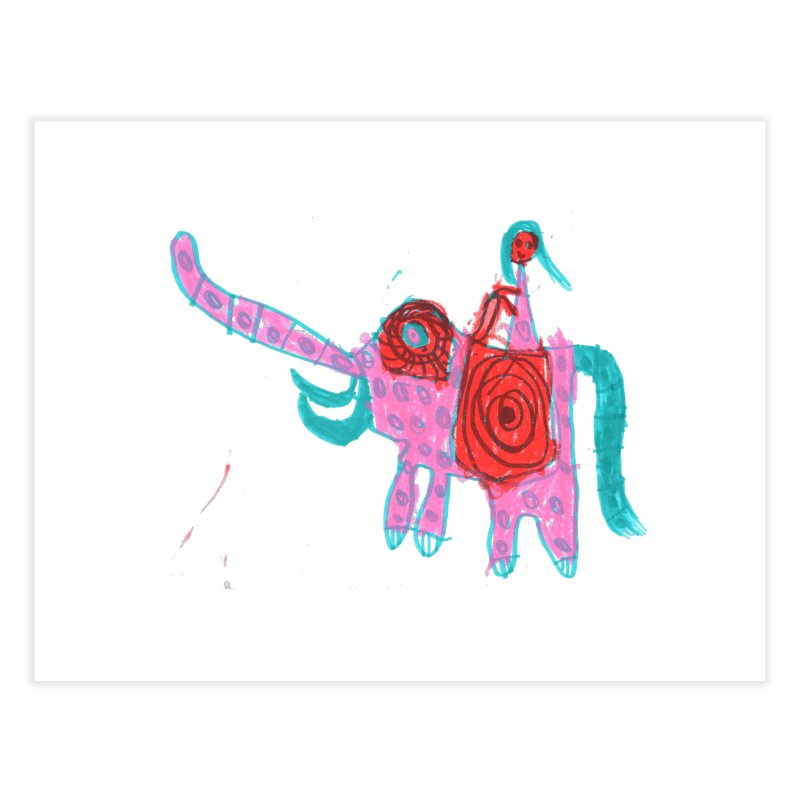 Elephant Rider Home Fine Art Print by The Life of Curiosity Store