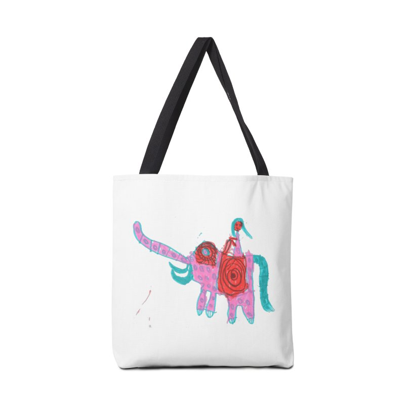 Elephant Rider Accessories Tote Bag Bag by The Life of Curiosity Store