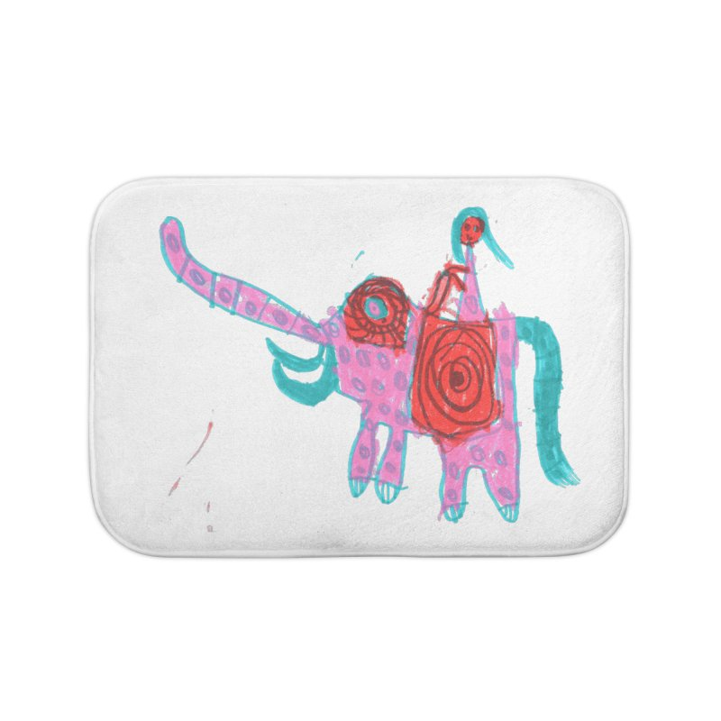 Elephant Rider Home Bath Mat by The Life of Curiosity Store