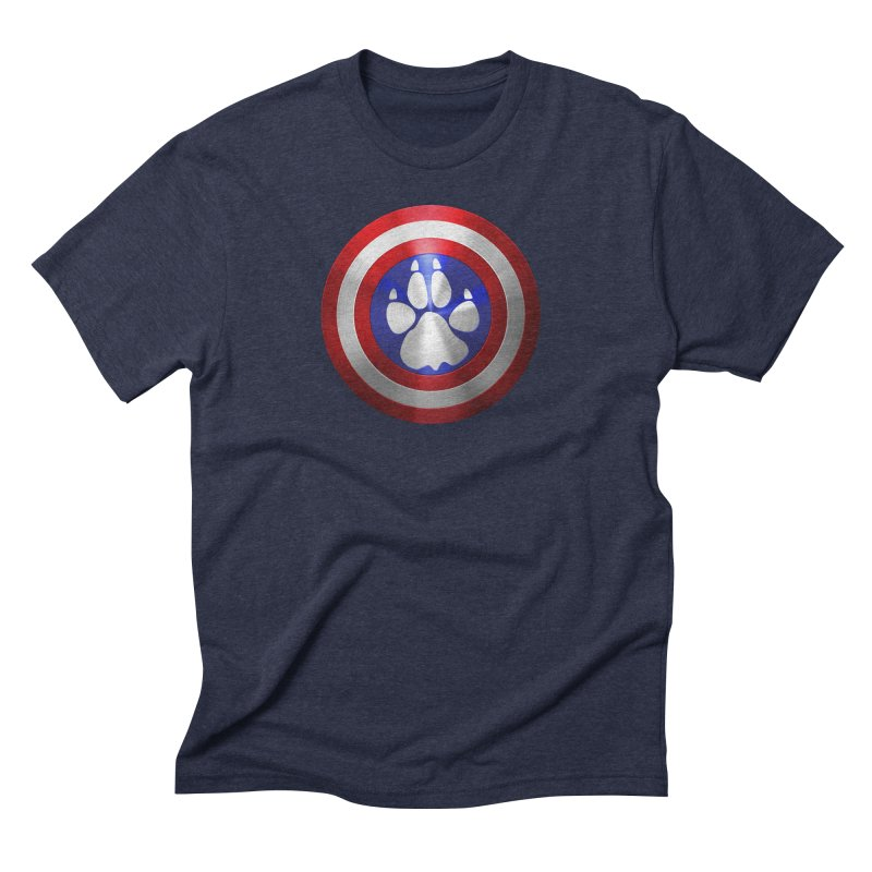 Captain K9 Logo in Men's Triblend T-Shirt Navy by LifeworkProductions's Artist Shop