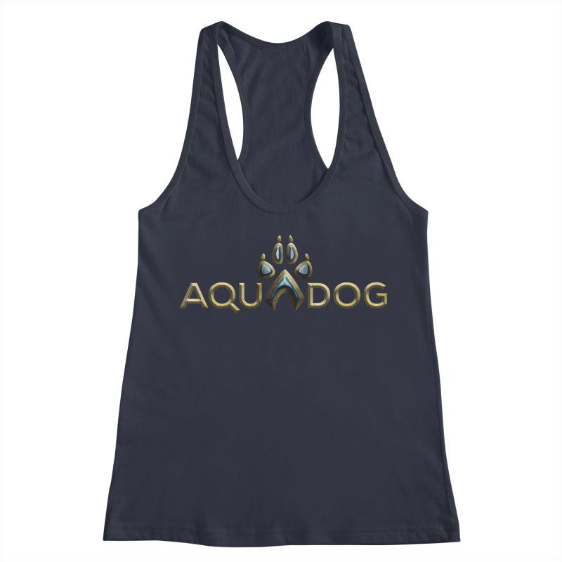 AquaDog in Women's Racerback Tank Midnight by LifeworkProductions's Artist Shop