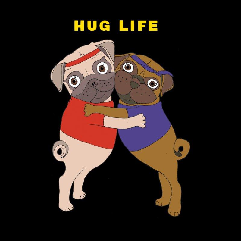 Hug Life Women's Zip-Up Hoody by LiftYourWorld's Artist Shop