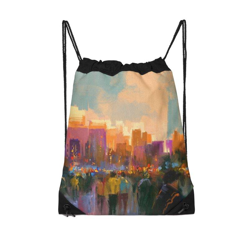 Urban Sunset Accessories Bag by LiftYourWorld's Artist Shop
