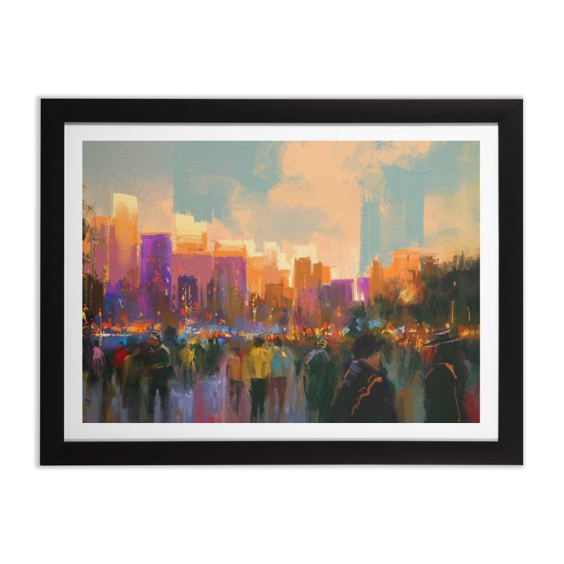 Urban Sunset Home Framed Fine Art Print by LiftYourWorld's Artist Shop