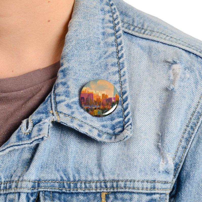 Urban Sunset Accessories Button by LiftYourWorld's Artist Shop