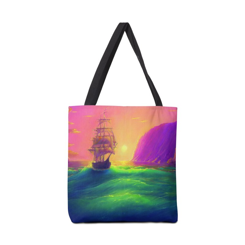 Boat at Sunset Accessories Bag by LiftYourWorld's Artist Shop