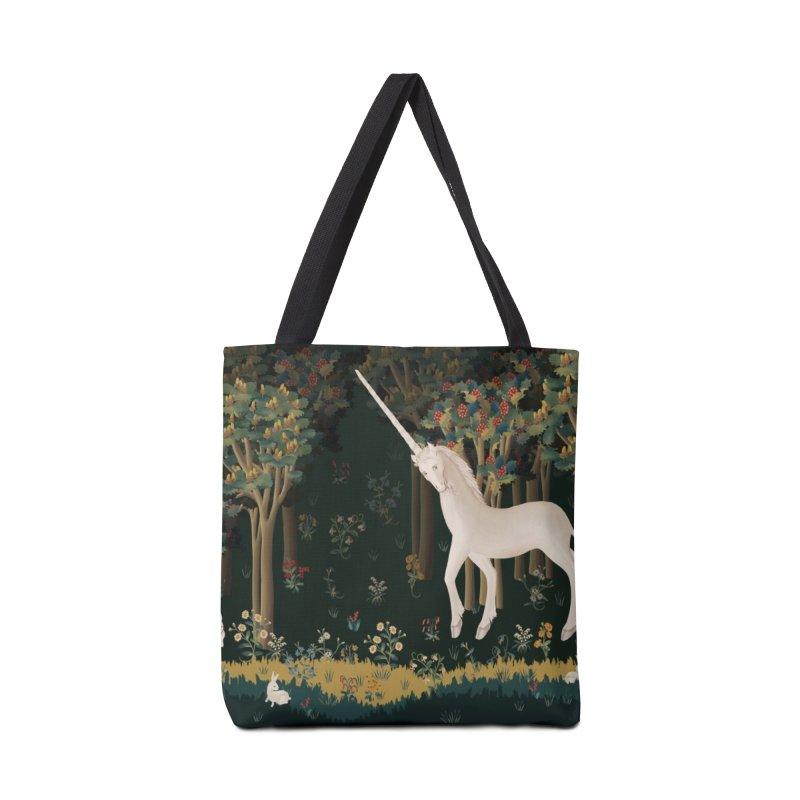 Unicorn and Bunnies in Landscape Accessories Bag by LiftYourWorld's Artist Shop