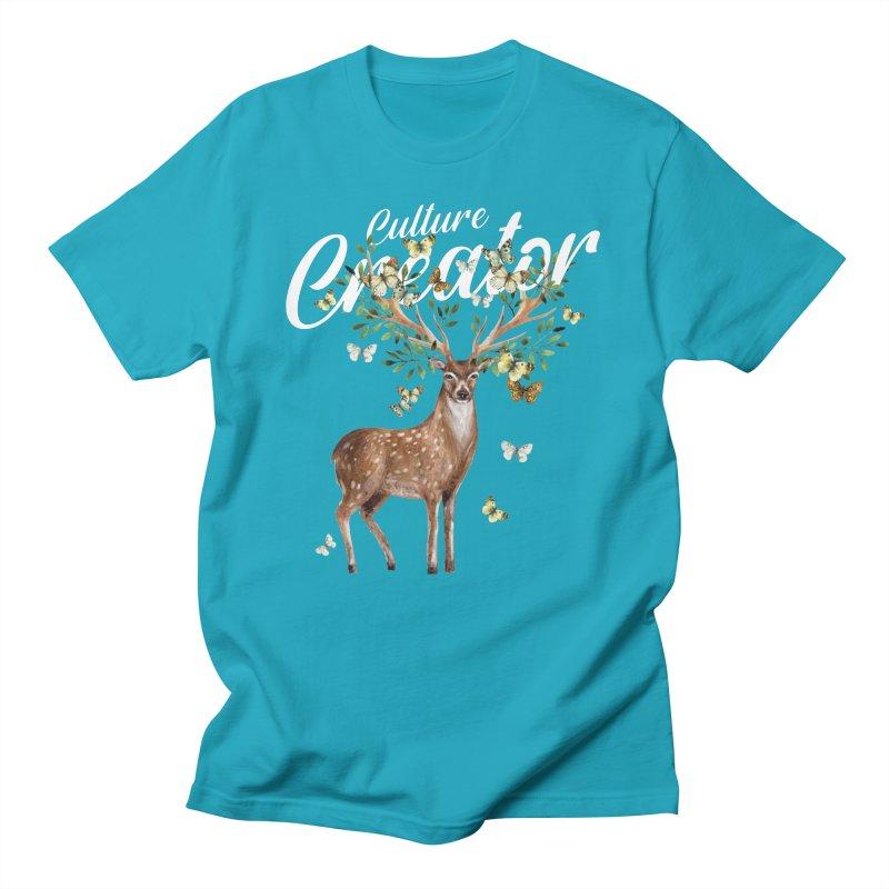 Culture Creator with Deer Men's T-Shirt by LiftYourWorld's Artist Shop