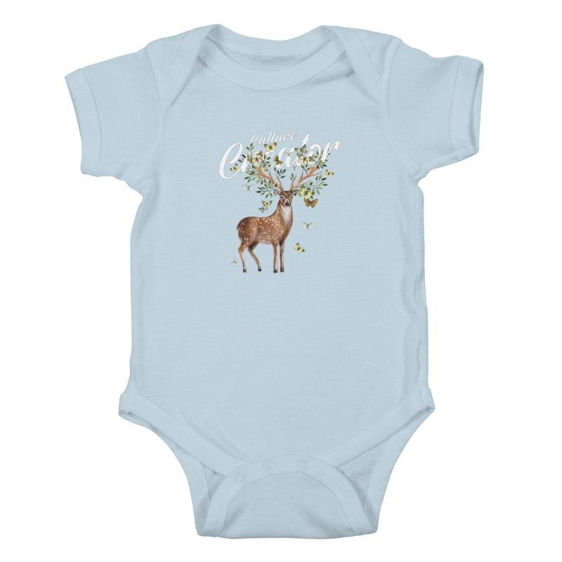 Culture Creator with Deer Kids Baby Bodysuit by LiftYourWorld's Artist Shop