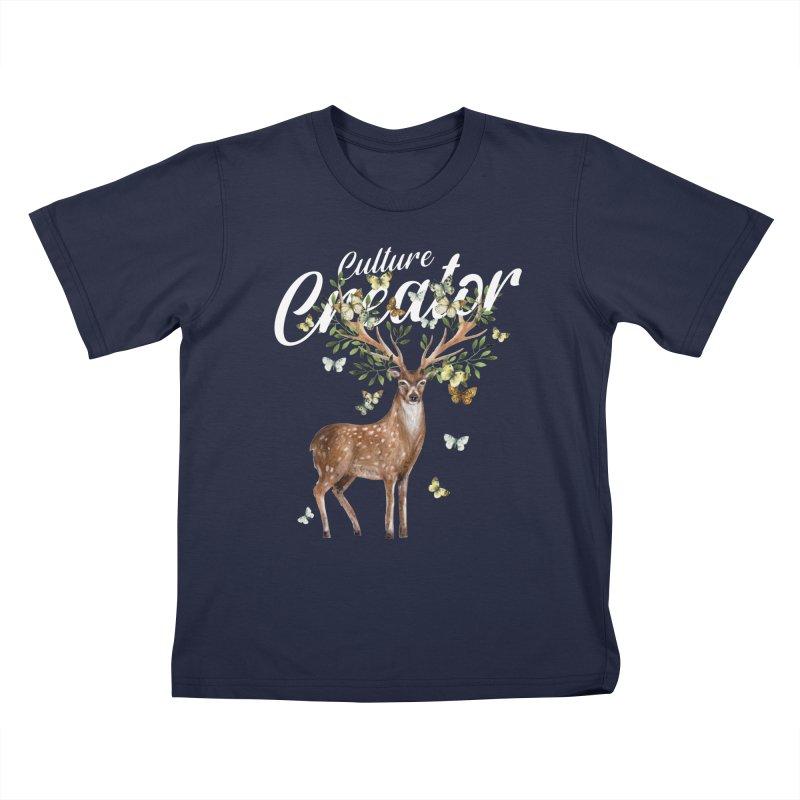 Culture Creator with Deer Kids T-Shirt by LiftYourWorld's Artist Shop