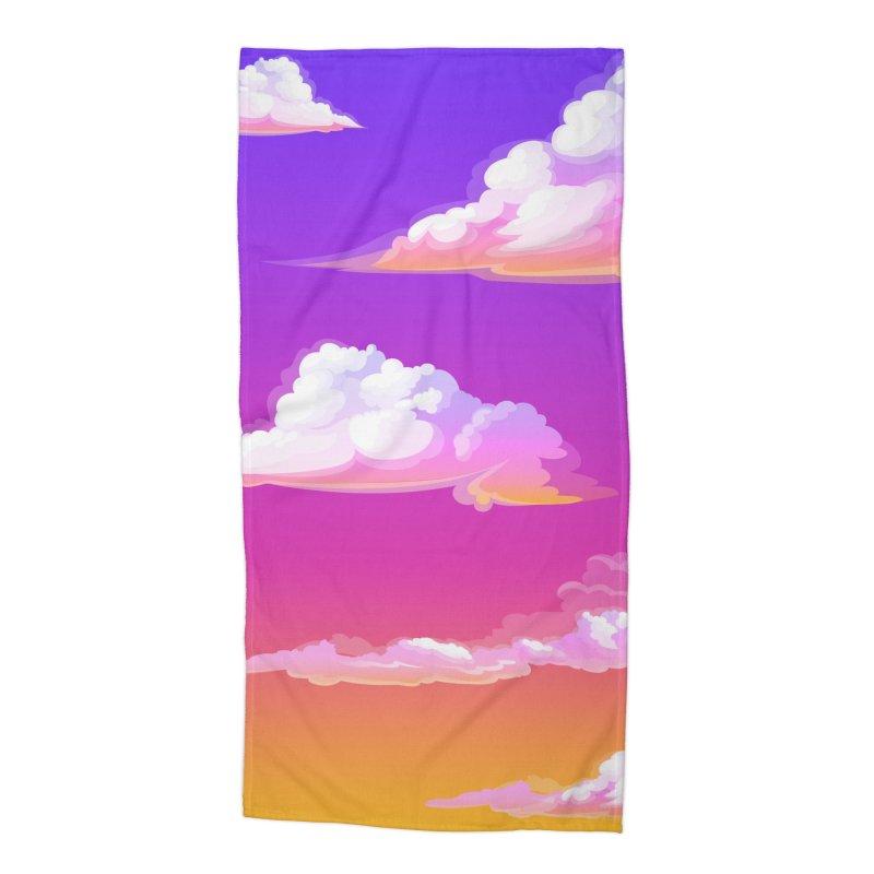 Sunset Clouds Beach Towel Accessories Beach Towel by LiftYourWorld's Artist Shop