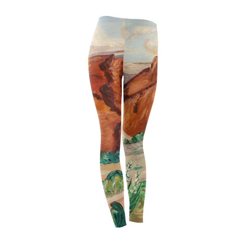 Western Landscape Leggings Women's Bottoms by LiftYourWorld's Artist Shop