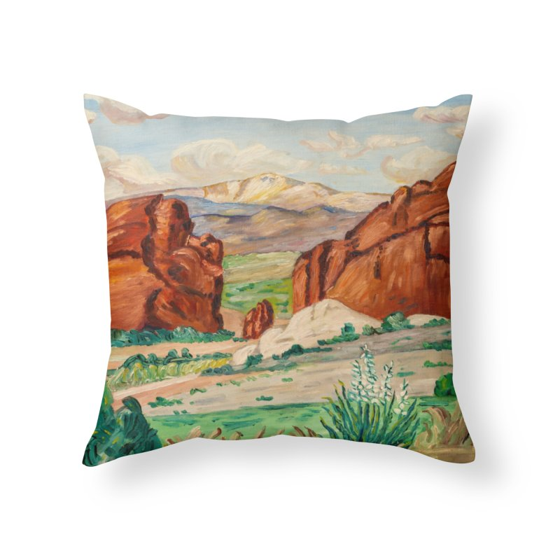 Western Landscape Leggings Home Throw Pillow by LiftYourWorld's Artist Shop