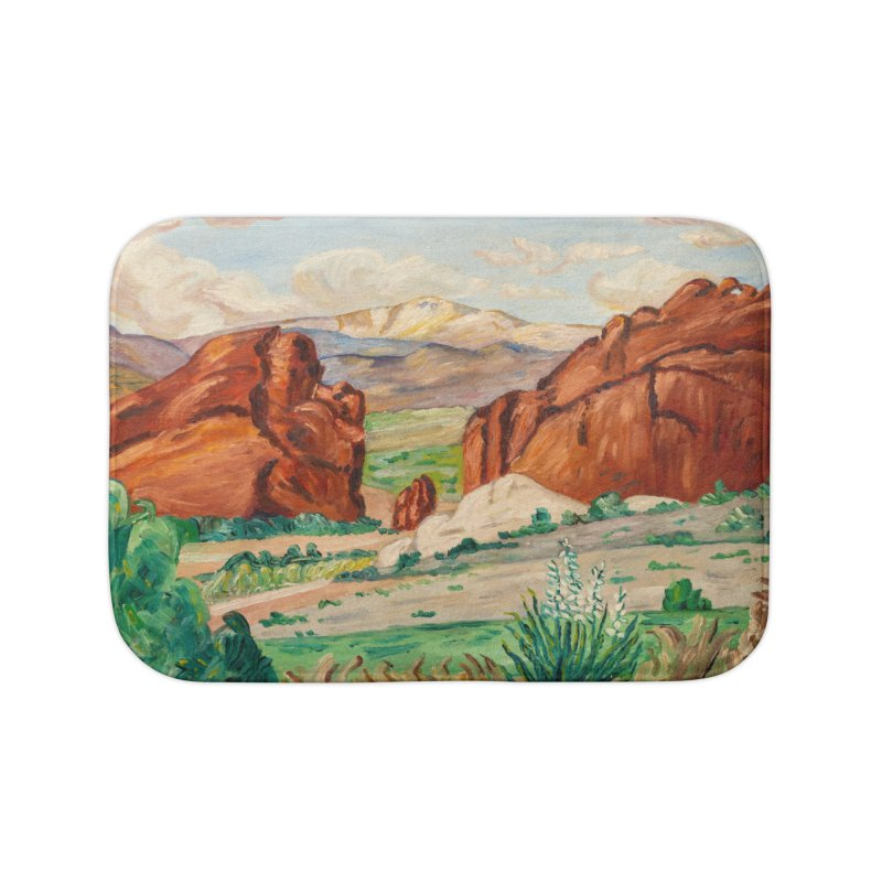 Western Landscape Leggings Home Bath Mat by LiftYourWorld's Artist Shop