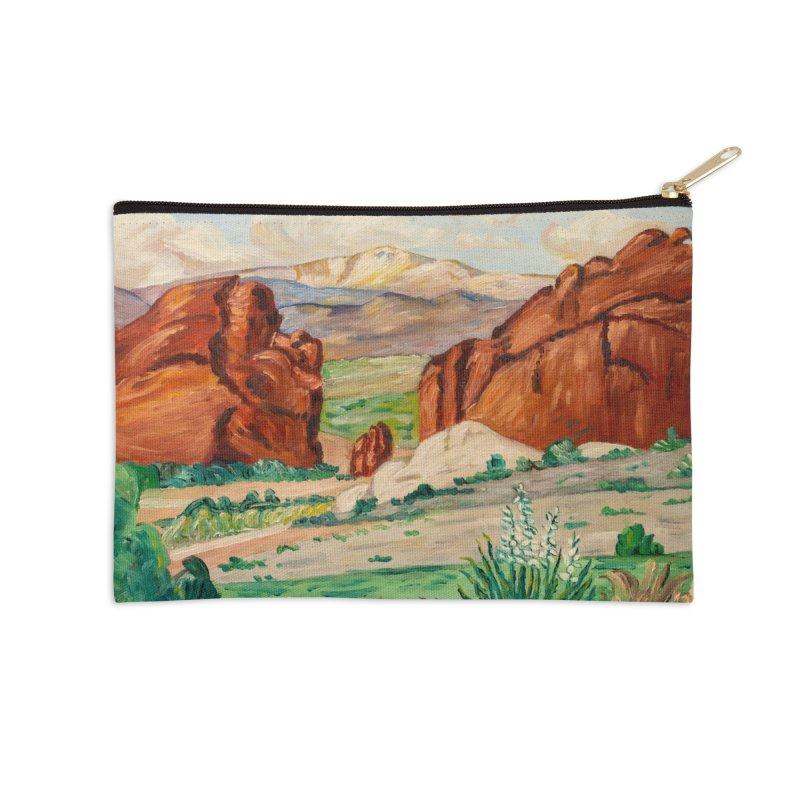 Western Landscape Leggings Accessories Zip Pouch by LiftYourWorld's Artist Shop