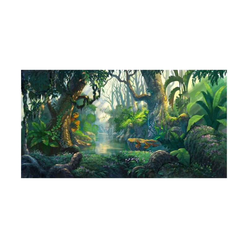 Fantasy Jungle Forest Leggings Home Throw Pillow by LiftYourWorld's Artist Shop