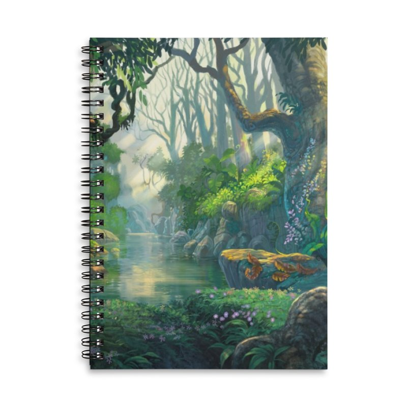 Fantasy Jungle Forest Leggings Accessories Notebook by LiftYourWorld's Artist Shop