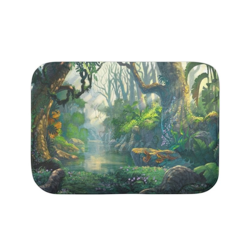 Fantasy Jungle Forest Leggings Home Bath Mat by LiftYourWorld's Artist Shop