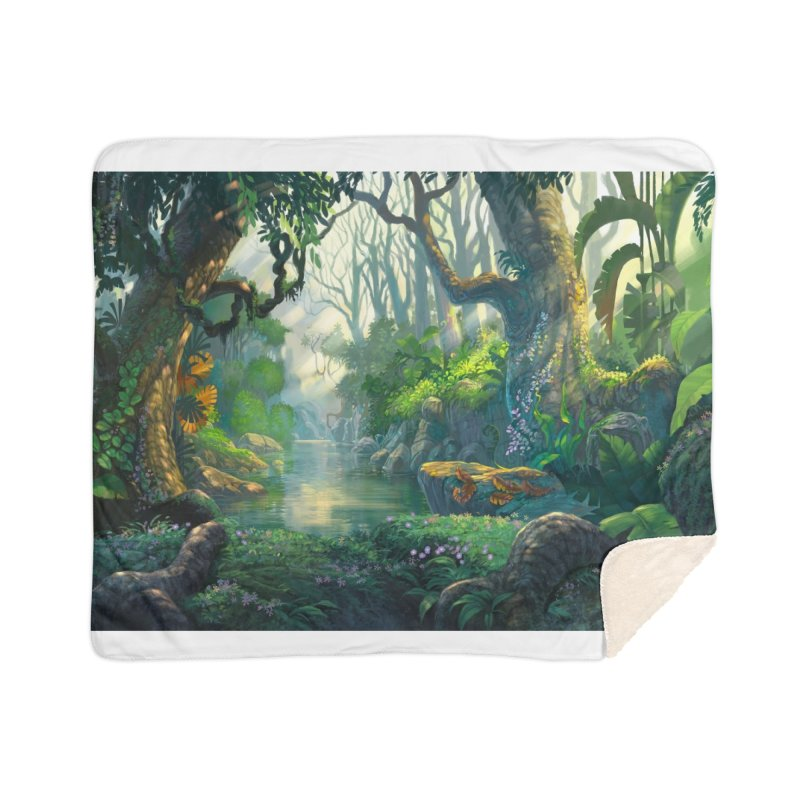 Fantasy Jungle Forest Leggings Home Blanket by LiftYourWorld's Artist Shop