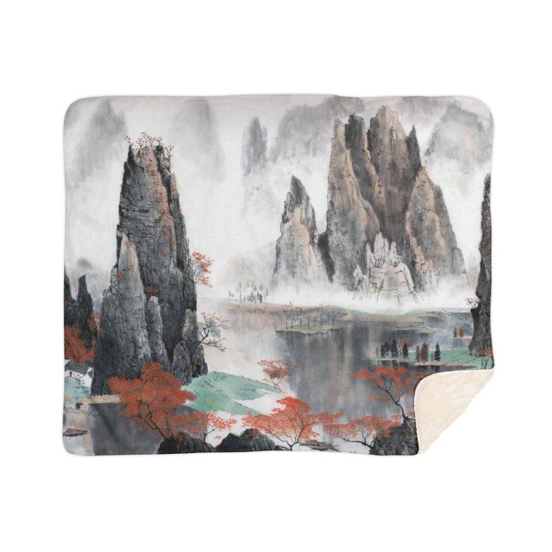 Asian Mountain Leggings Home Blanket by LiftYourWorld's Artist Shop