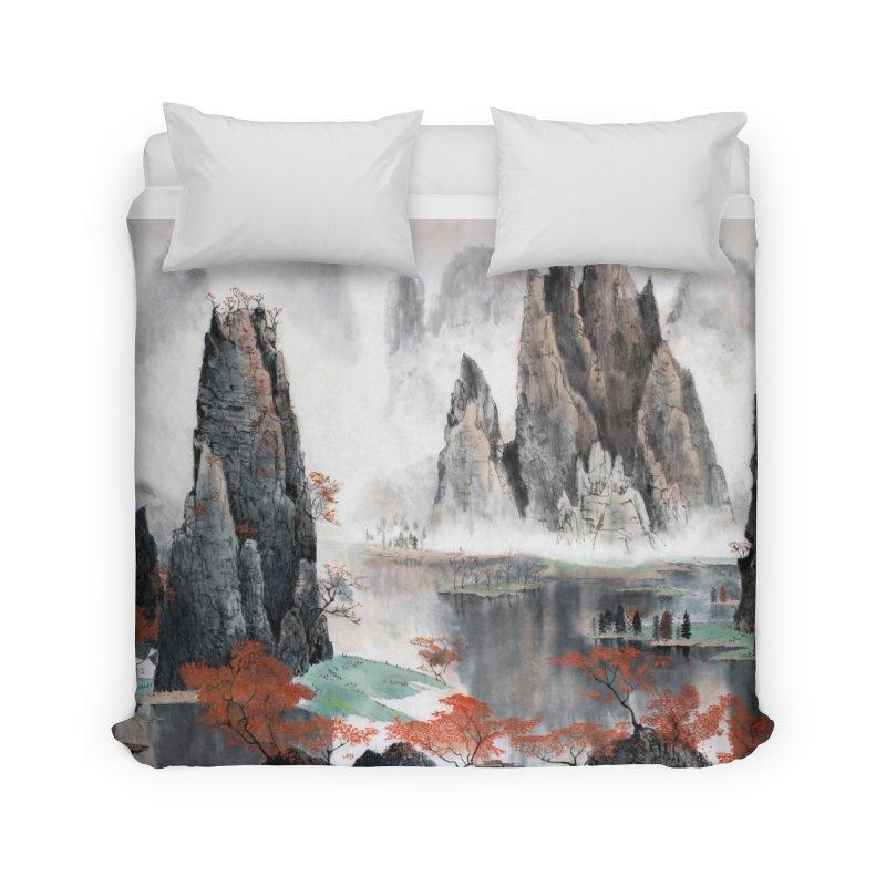 Asian Mountain Leggings Home Duvet by LiftYourWorld's Artist Shop