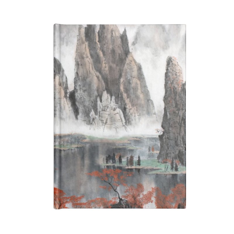 Asian Mountain Leggings Accessories Notebook by LiftYourWorld's Artist Shop