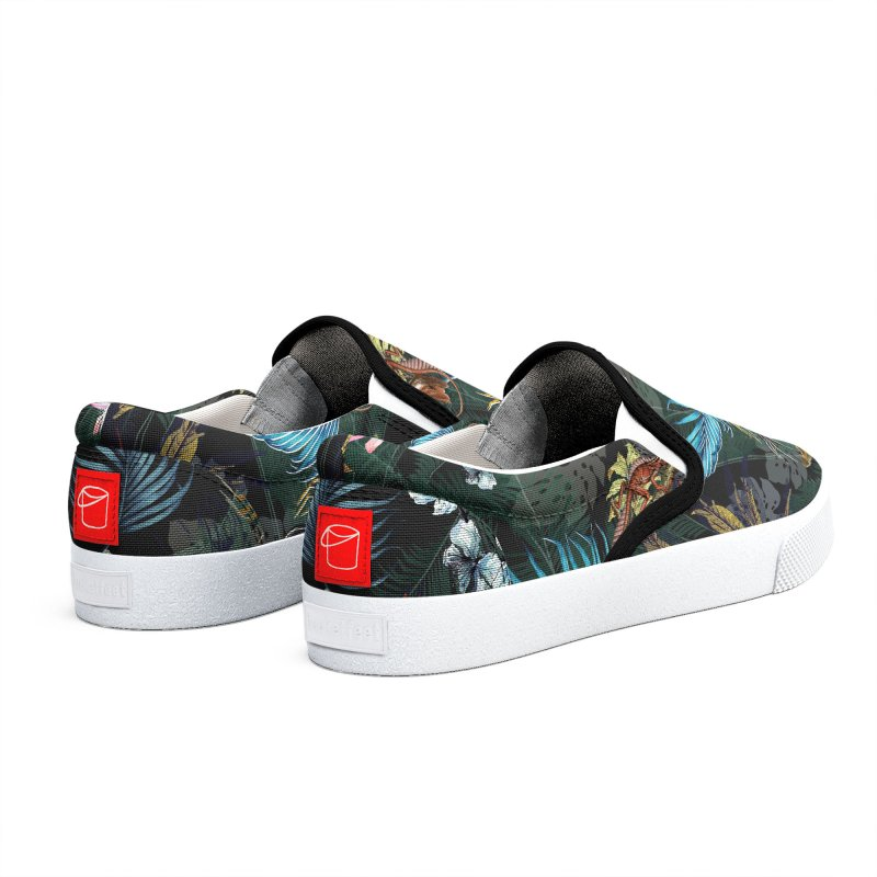 Tropical Shoes with Iguanas - Teal Yellow Red Black Men's Shoes by LiftYourWorld's Artist Shop