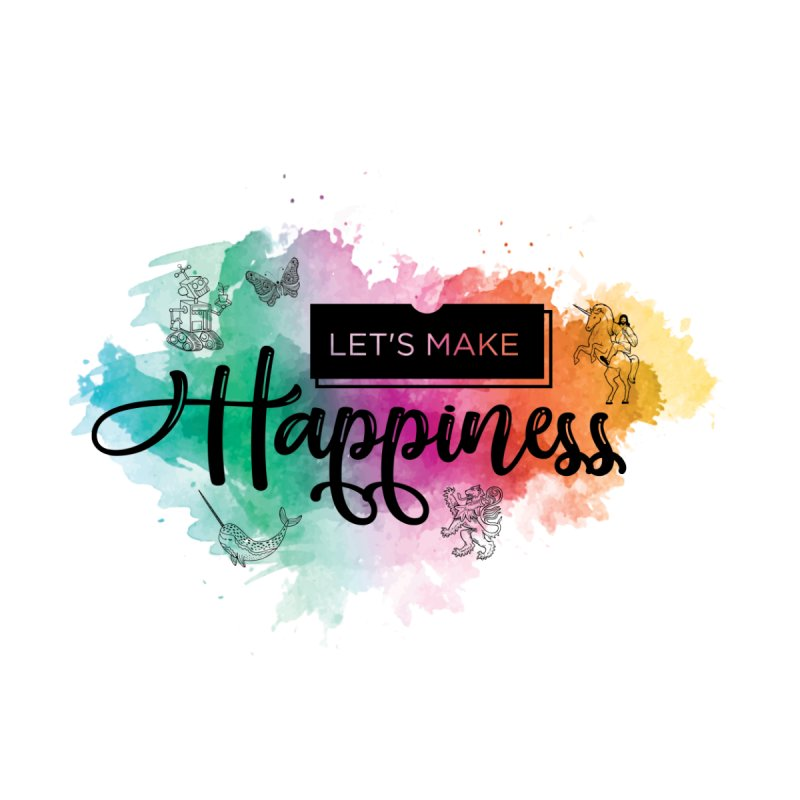 Let's Make Happiness Pouch & Water Bottle Accessories Zip Pouch by LiftYourWorld's Artist Shop