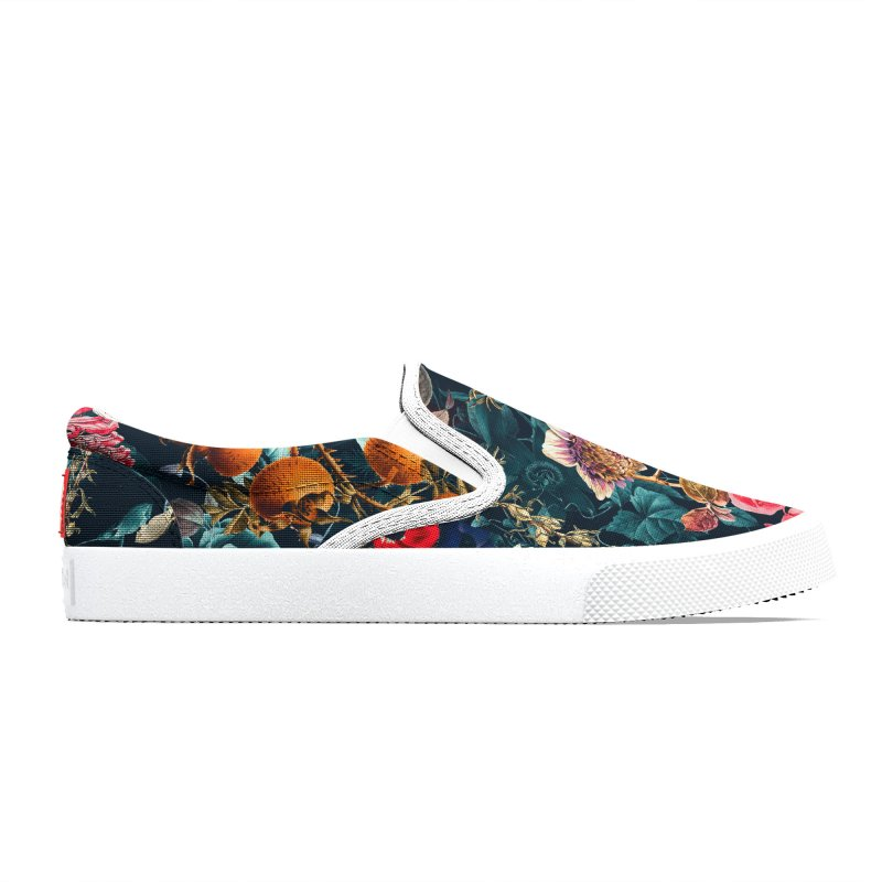 Teal and Purple Flowers Shoes Men's Shoes by LiftYourWorld's Artist Shop